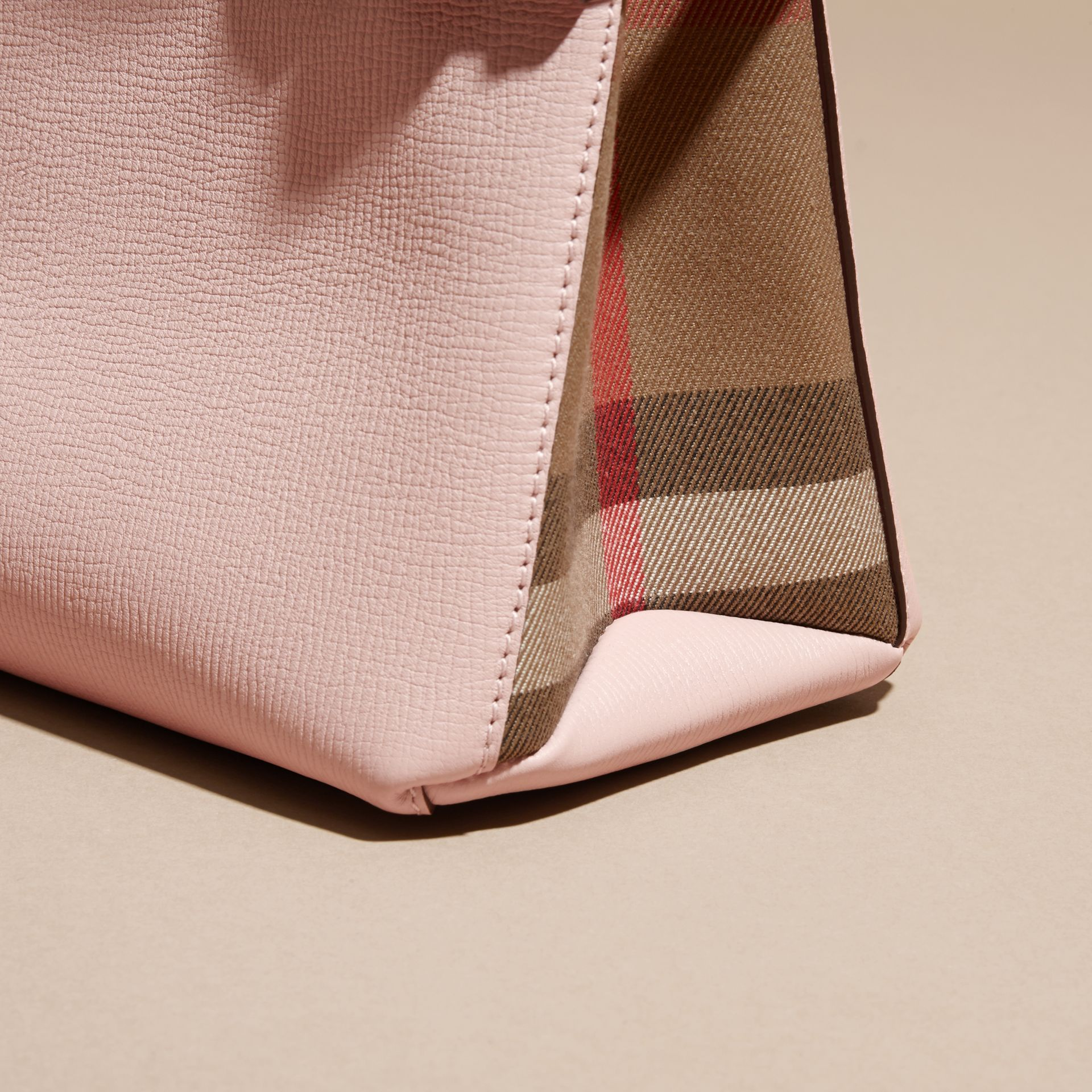 The Baby Banner in Leather and House Check in Pale Orchid - Women | Burberry - gallery image 2