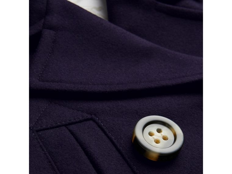 Short Wool Pea Coat in Navy - Girl | Burberry - cell image 1