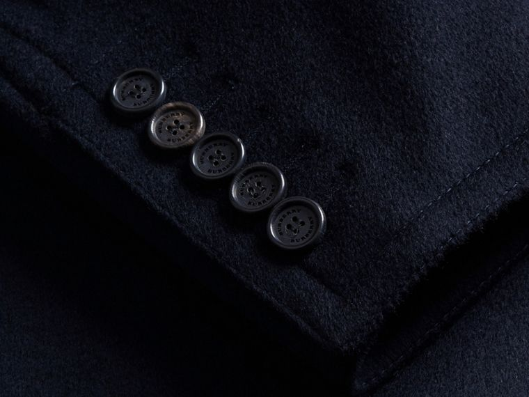 Wool Cashmere Pea Coat Navy - cell image 1