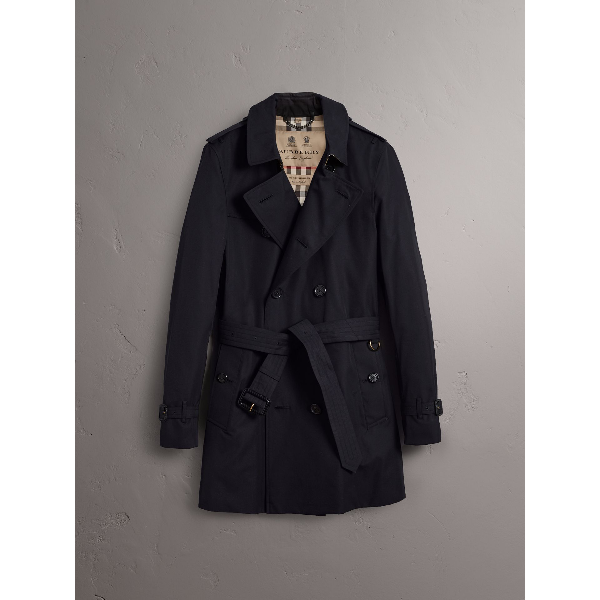 The Sandringham – Mid-length Heritage Trench Coat in Navy - Men | Burberry Singapore - gallery image 4