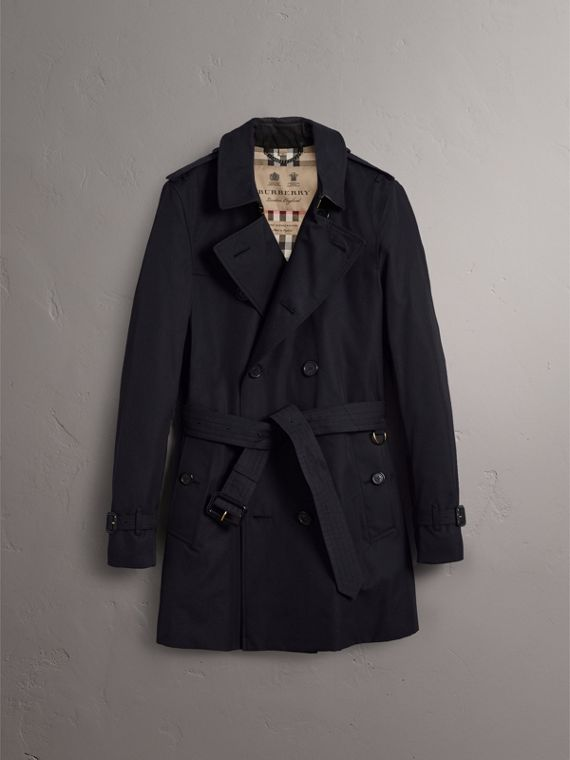 The Sandringham – Mid-length Heritage Trench Coat in Navy - Men | Burberry Singapore - cell image 3