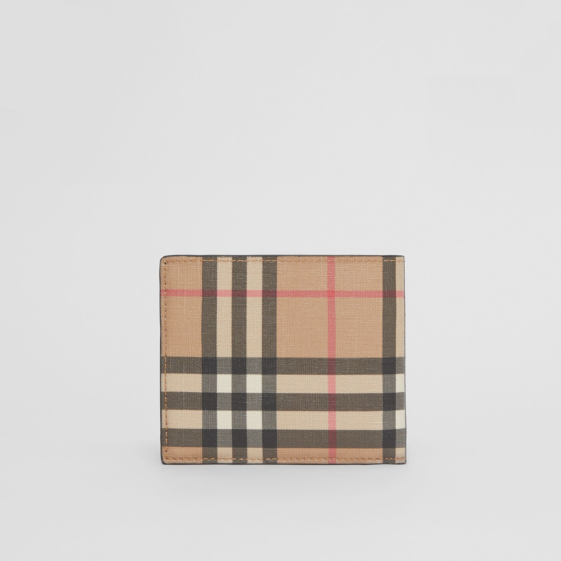Vintage Check E-canvas Wallet with ID Card Case in Archive Beige - Men | Burberry - gallery image 4