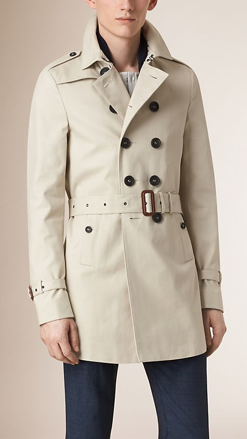 Stone Cotton Gabardine Trench Coat - Image 2