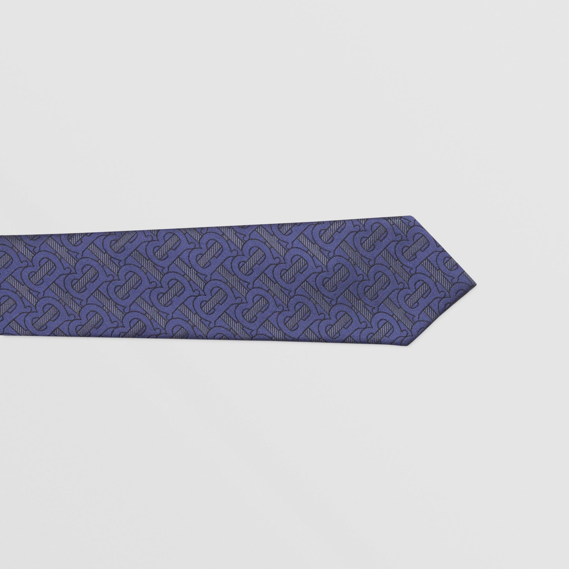 Classic Cut Monogram Silk Blend Jacquard Tie in Bright Indigo - Men | Burberry Hong Kong S.A.R - gallery image 1