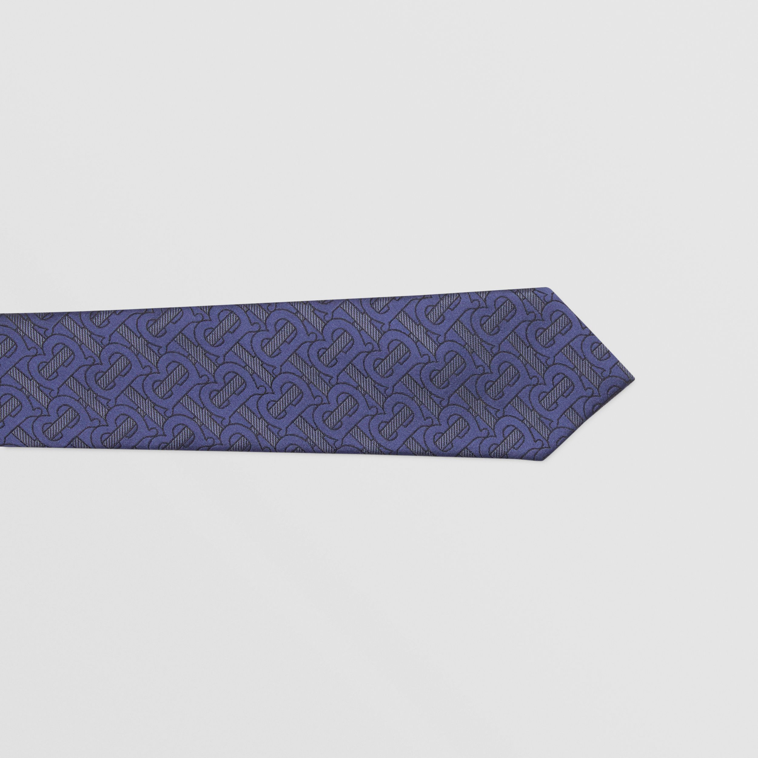 Classic Cut Monogram Silk Blend Jacquard Tie in Bright Indigo - Men | Burberry - 2