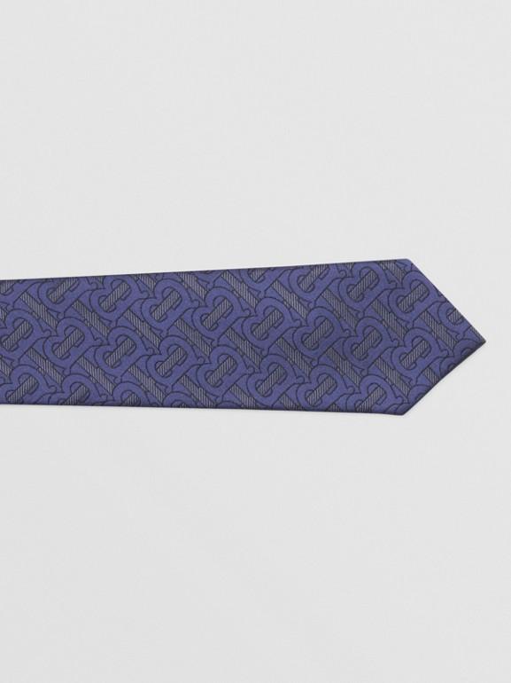 Classic Cut Monogram Silk Blend Jacquard Tie in Bright Indigo - Men | Burberry Hong Kong S.A.R - cell image 1