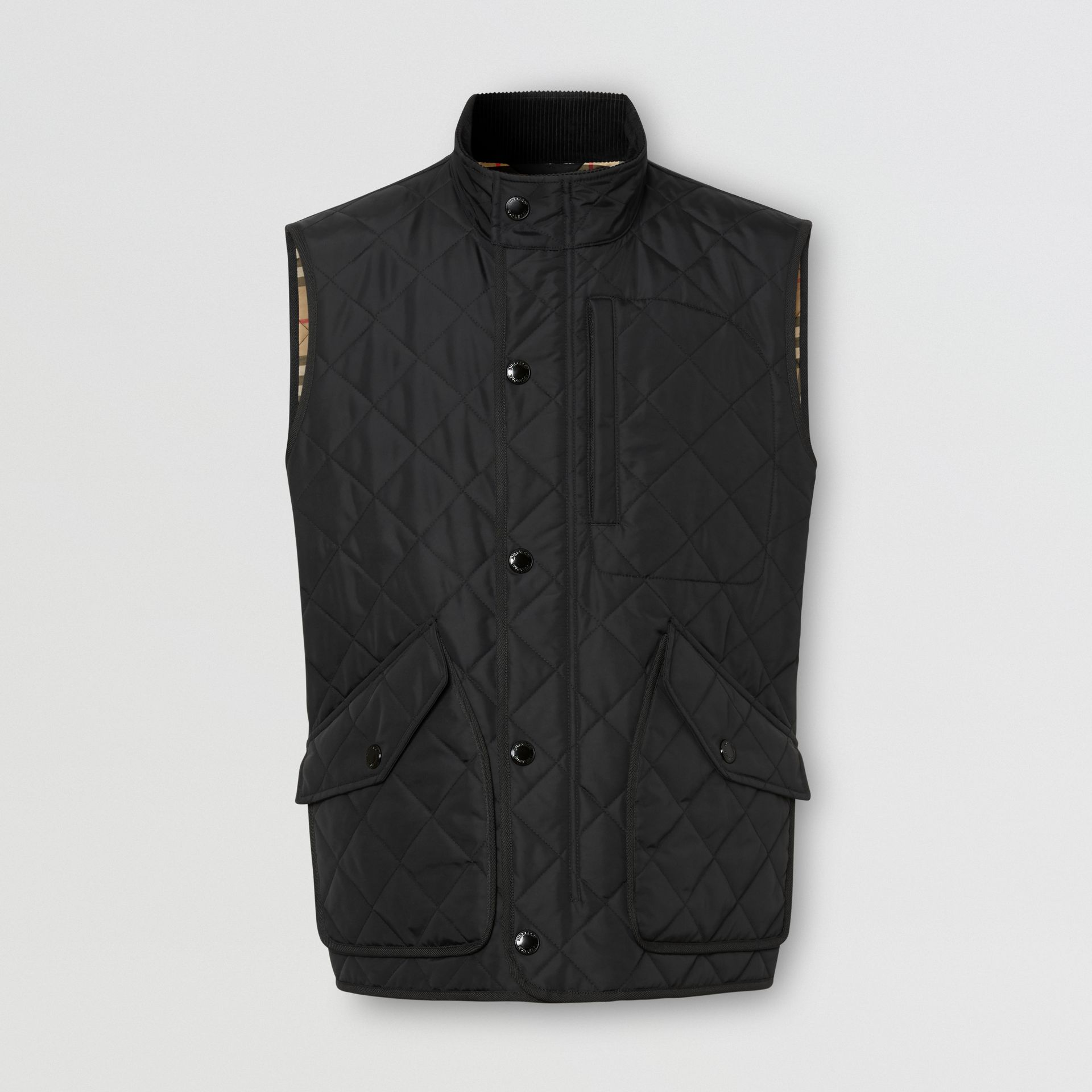Diamond Quilted Thermoregulated Gilet in Black - Men | Burberry - gallery image 3