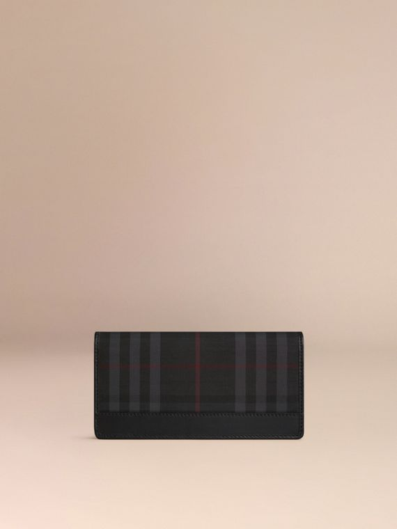 Horseferry Check Continental Wallet in Charcoal/black - Men | Burberry Singapore - cell image 2