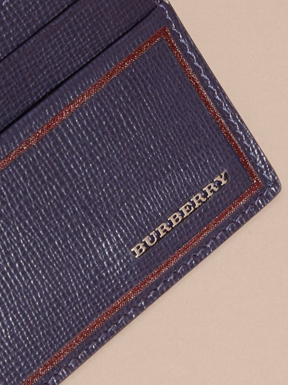 Dark navy Border Detail London Leather Card Case Dark Navy - cell image 2
