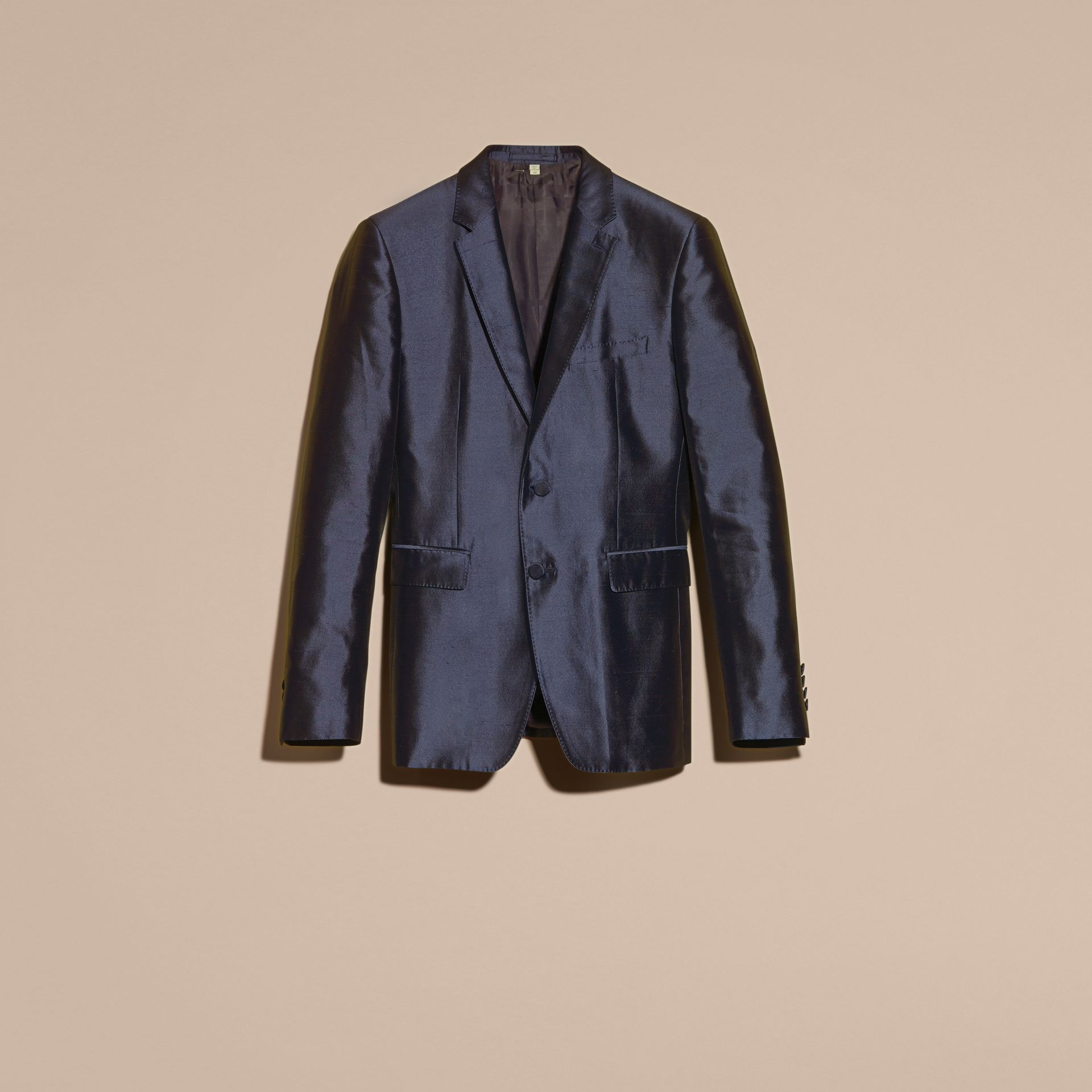 Slim Fit Tailored Silk Jacket - gallery image 4