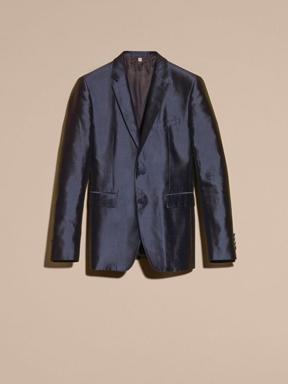 Slim Fit Tailored Silk Jacket - cell image 3