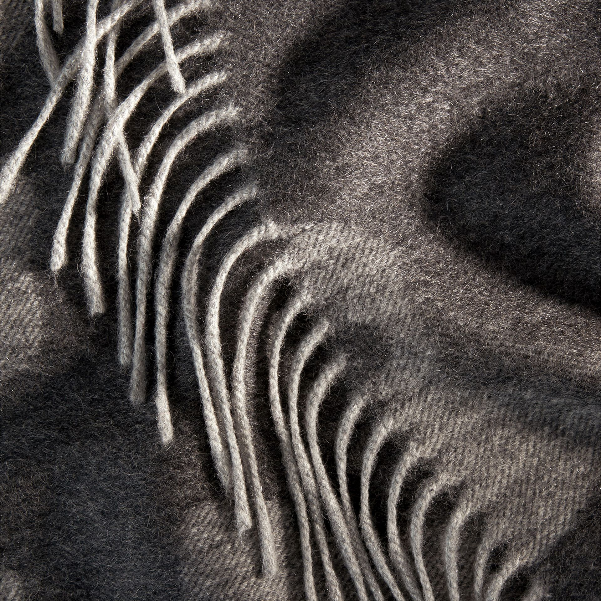 Mid grey print Animal Jacquard Cashmere Blanket Mid Grey Print - gallery image 2