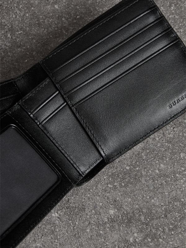 London Check Bifold Wallet with Removable Card Case in Navy/black - Men | Burberry United Kingdom - cell image 3