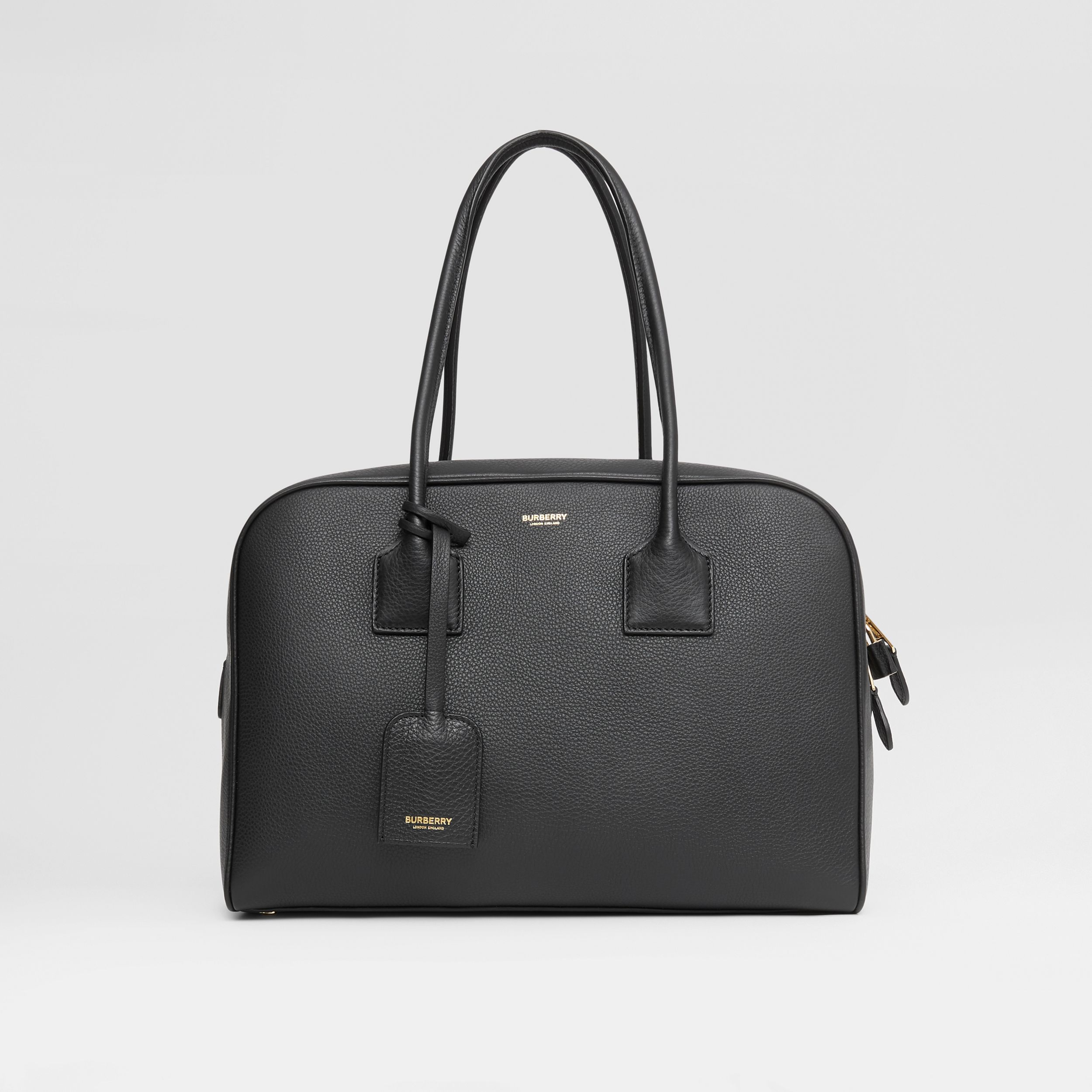 Large Leather Half Cube Bag in Black - Women | Burberry Singapore - 1