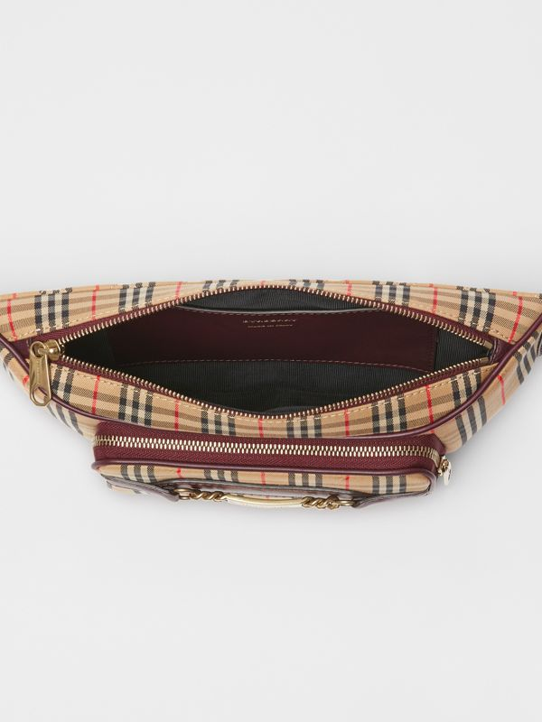 The Large 1983 Check Link Bum Bag in Oxblood - Men | Burberry Australia - cell image 3