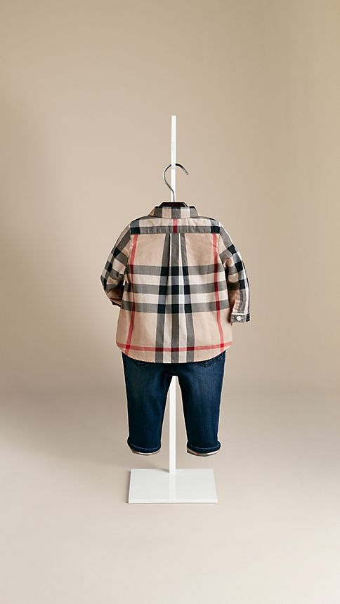 New classic Check Cotton Shirt - Image 2