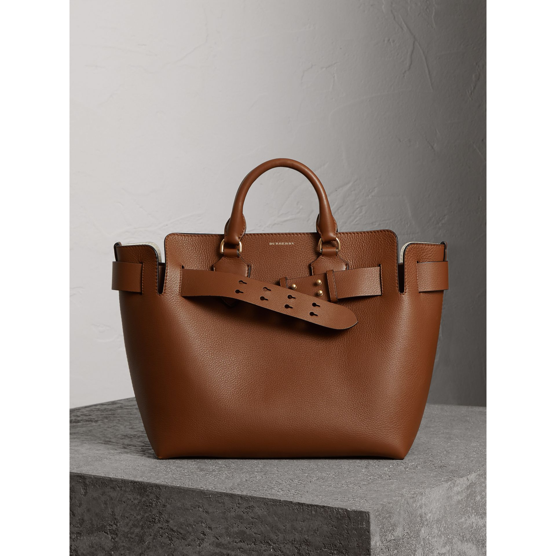 The Medium Leather Belt Bag in Tan - Women | Burberry Singapore - gallery image 6