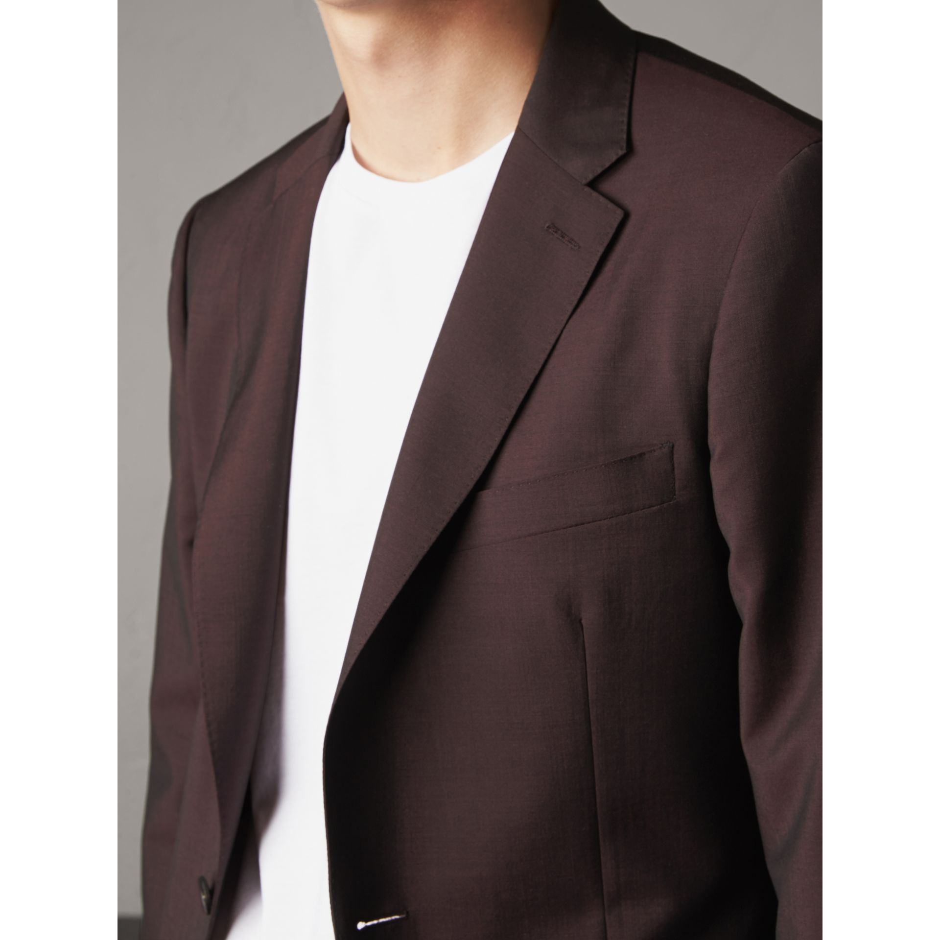 Soho Fit Wool Mohair Suit in Chestnut Brown - Men | Burberry - gallery image 5