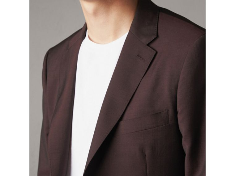 Soho Fit Wool Mohair Suit in Chestnut Brown - Men | Burberry - cell image 4