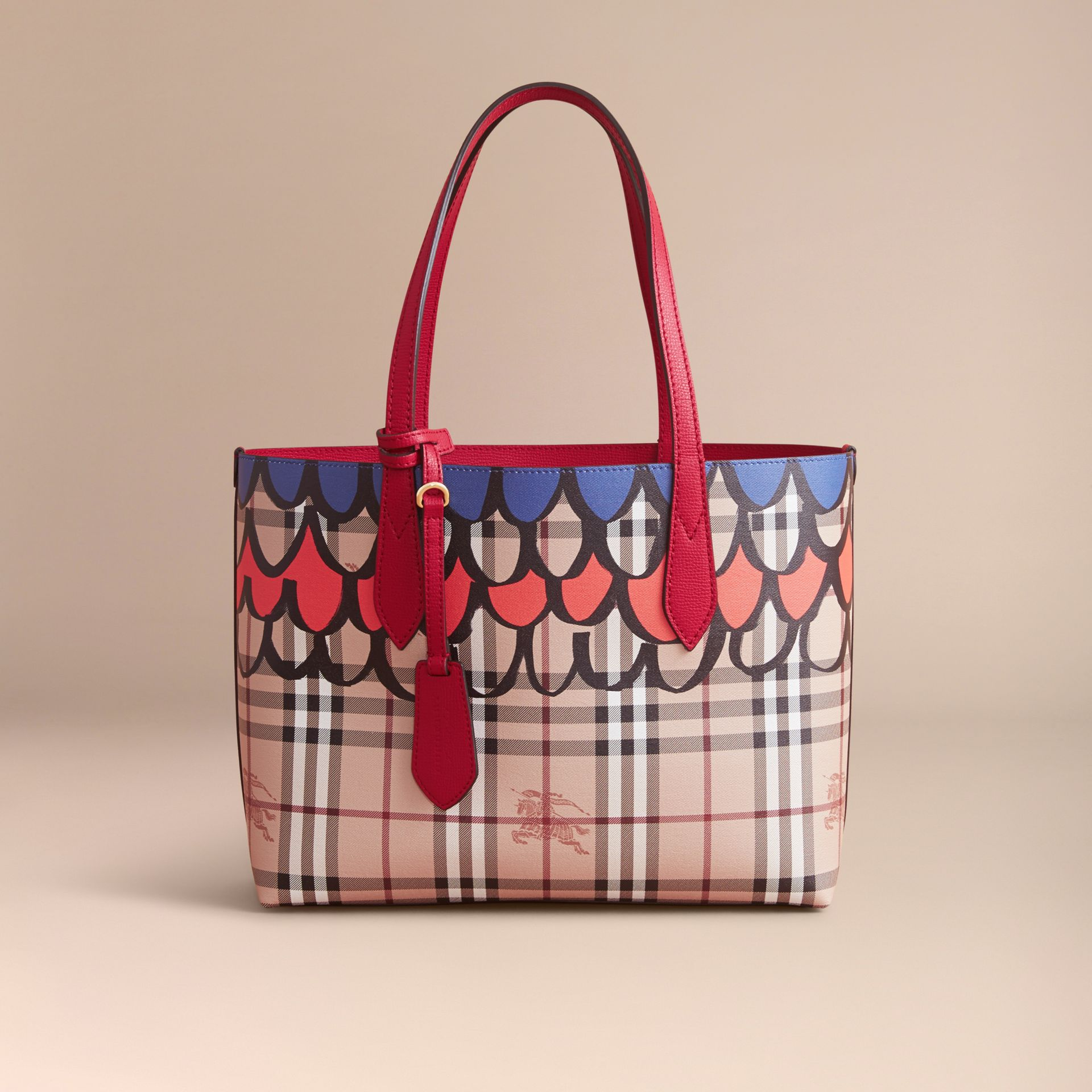 The Small Reversible Tote in Trompe L'oeil Print - gallery image 8