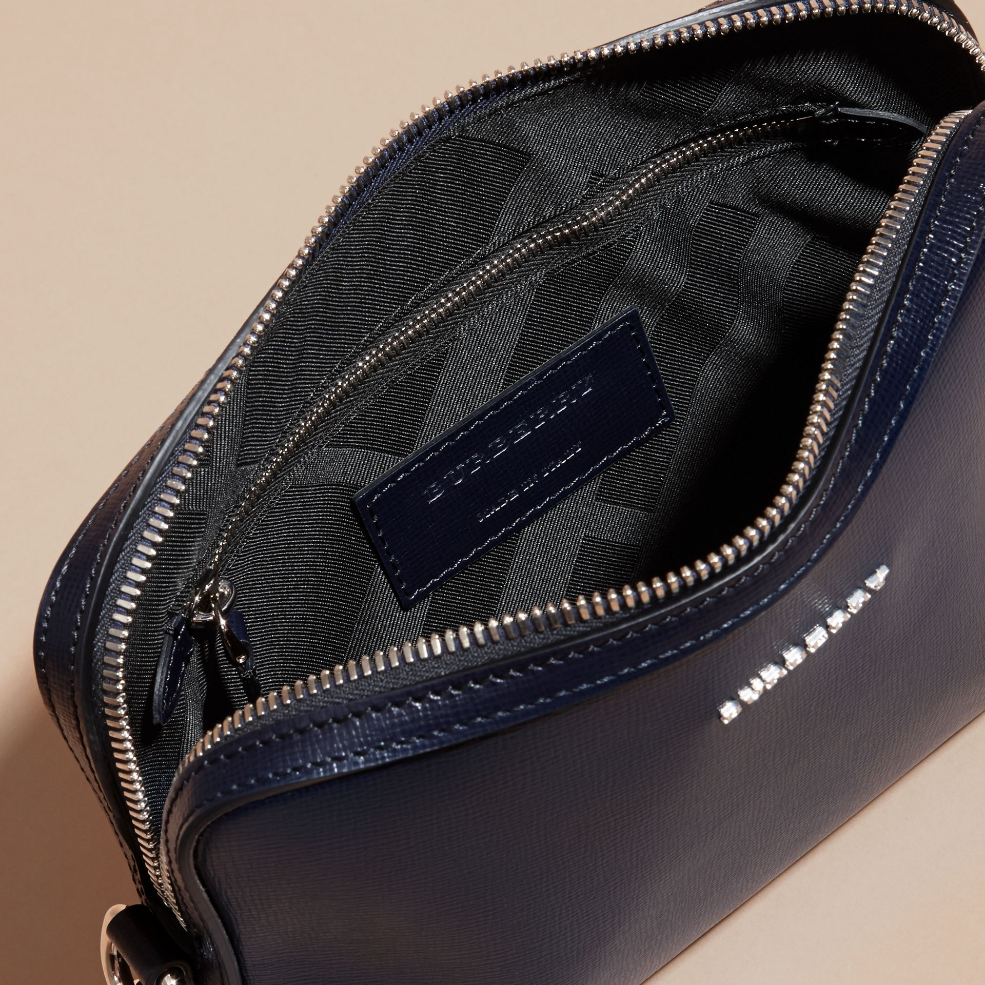 London Leather Pouch in Dark Navy - Men | Burberry Australia - gallery image 5