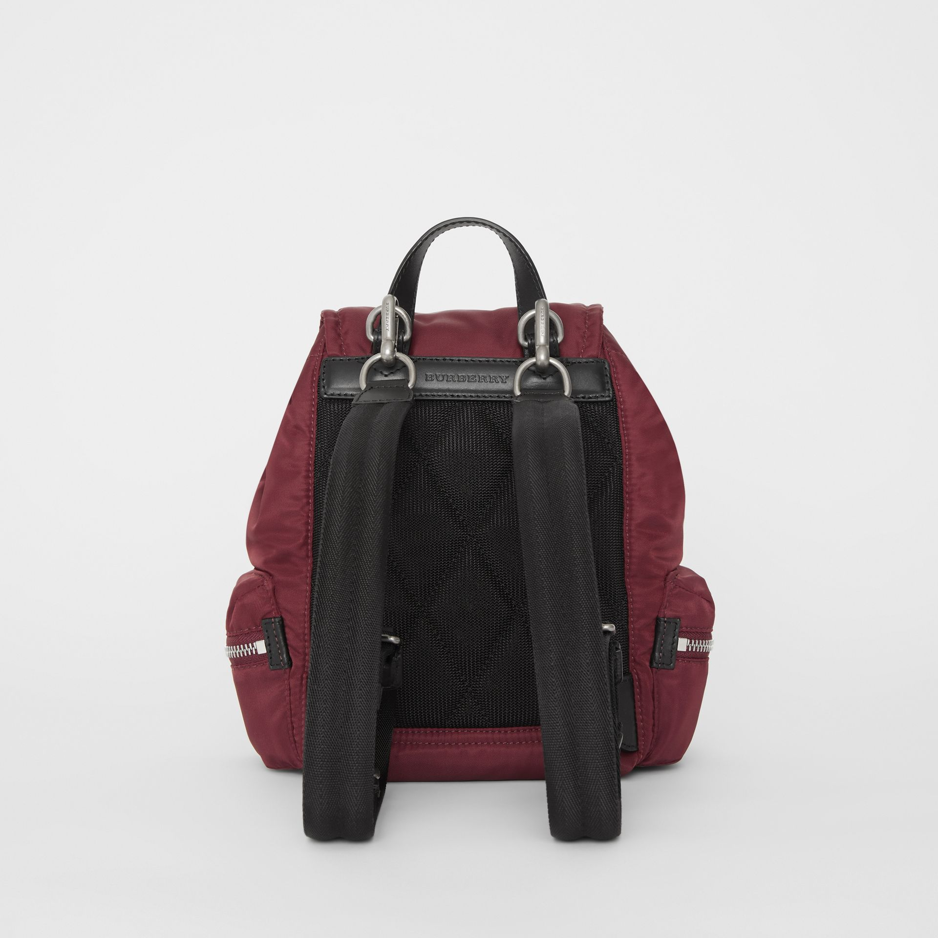 The Small Crossbody Rucksack in Puffer Nylon in Burgundy Red - Women | Burberry Singapore - gallery image 8