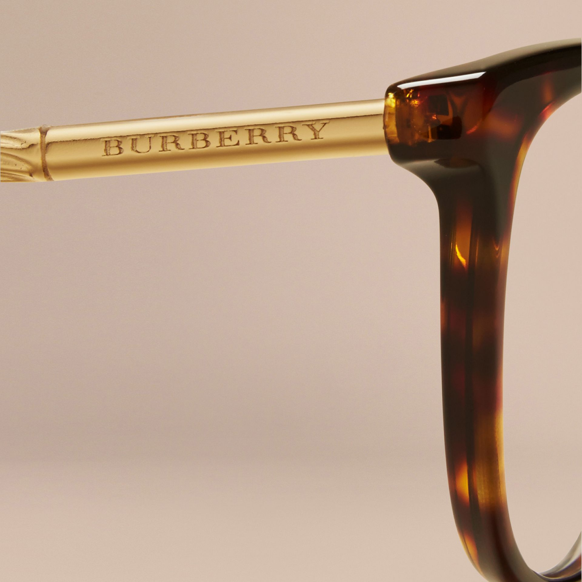 Gabardine Collection Cat-Eye Optical Frames Tortoise Shell - gallery image 2