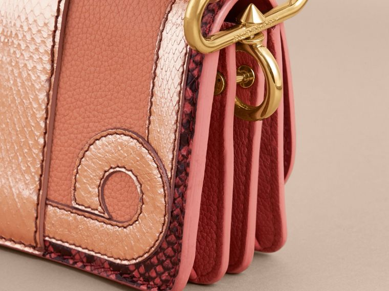 The Patchwork in Grainy Leather and Snakeskin in Pink - Women | Burberry - cell image 4