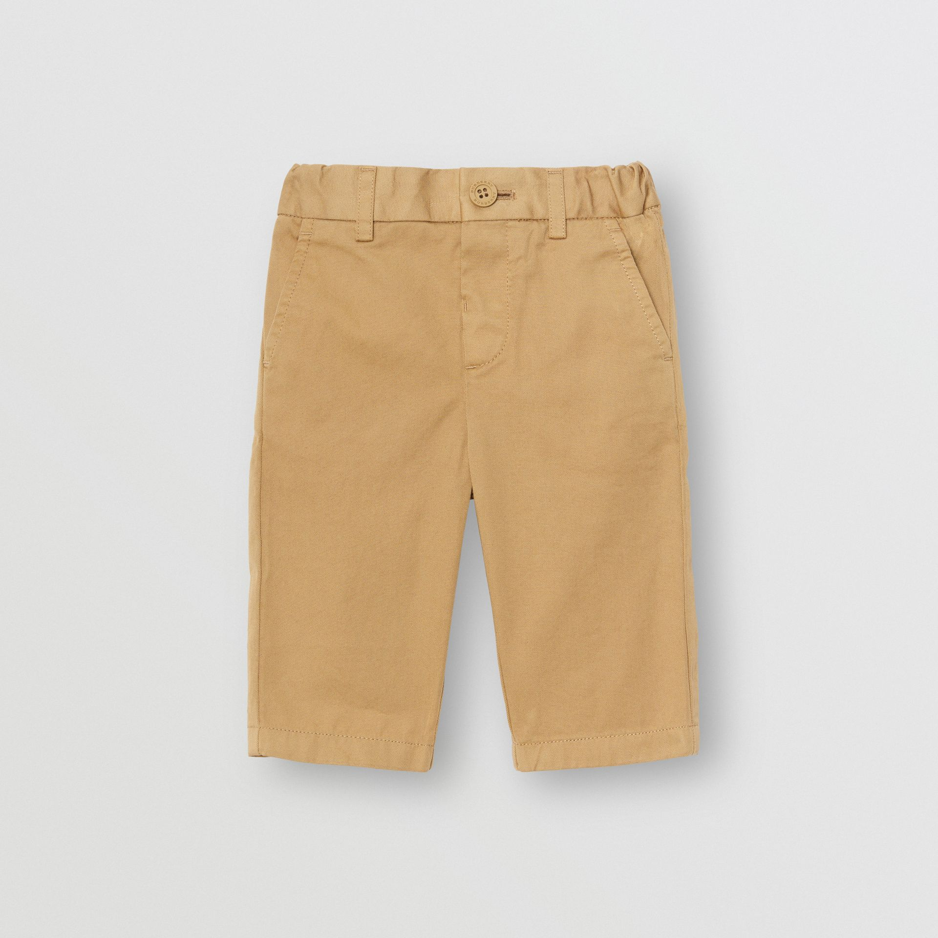 Cotton Chinos in Taupe - Children | Burberry - gallery image 0