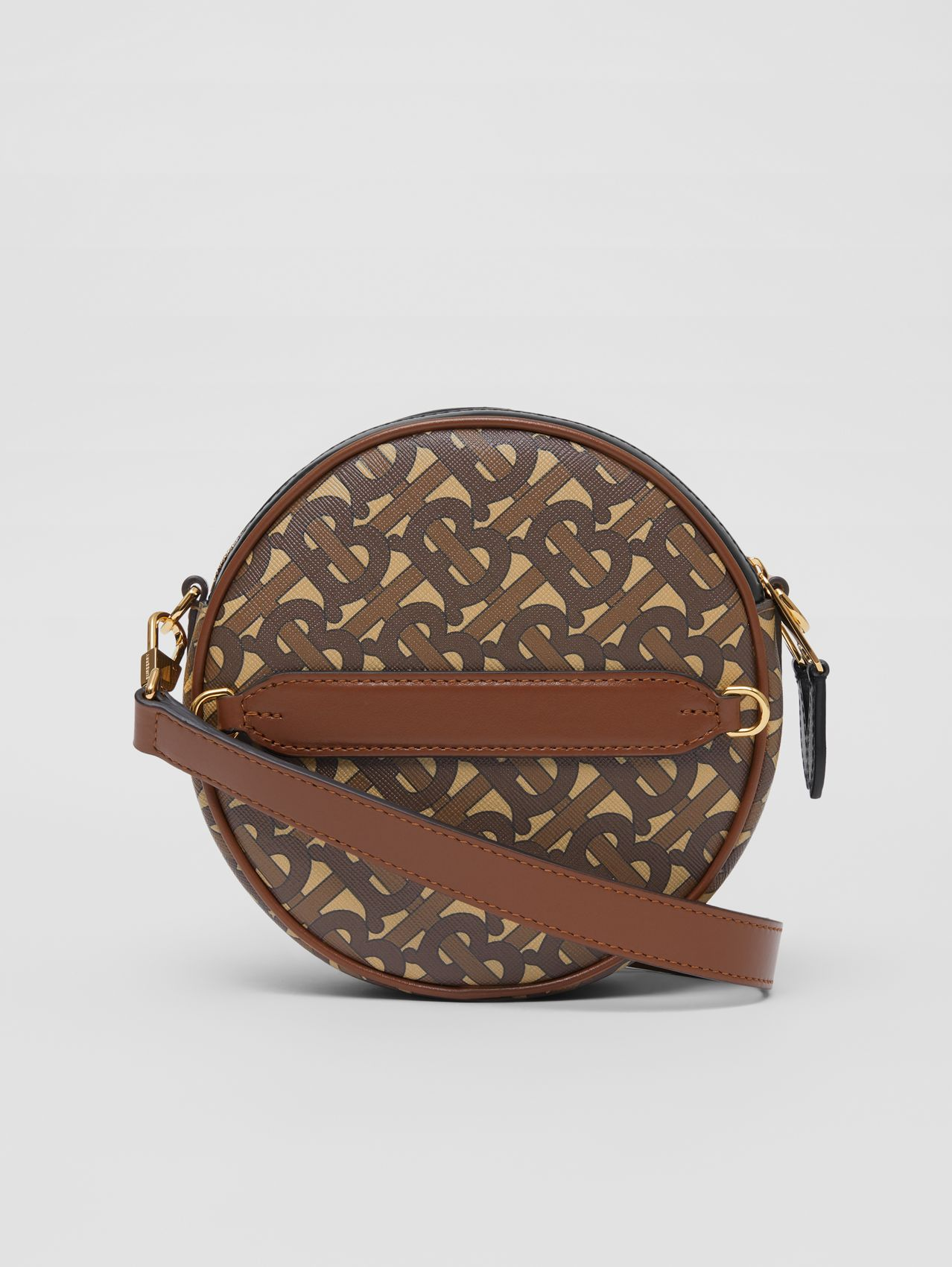 Monogram Print E-canvas Louise Bag (Bridle Brown)
