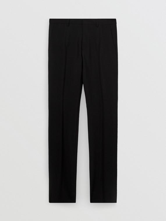 Pantalon de costume en laine et mohair (Noir)