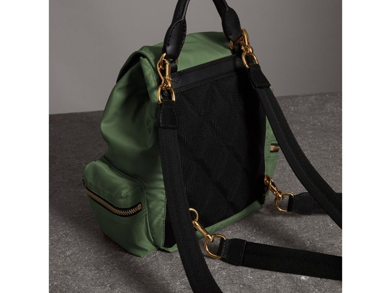 The Small Crossbody Rucksack in Nylon in Racing Green - Women | Burberry - cell image 4