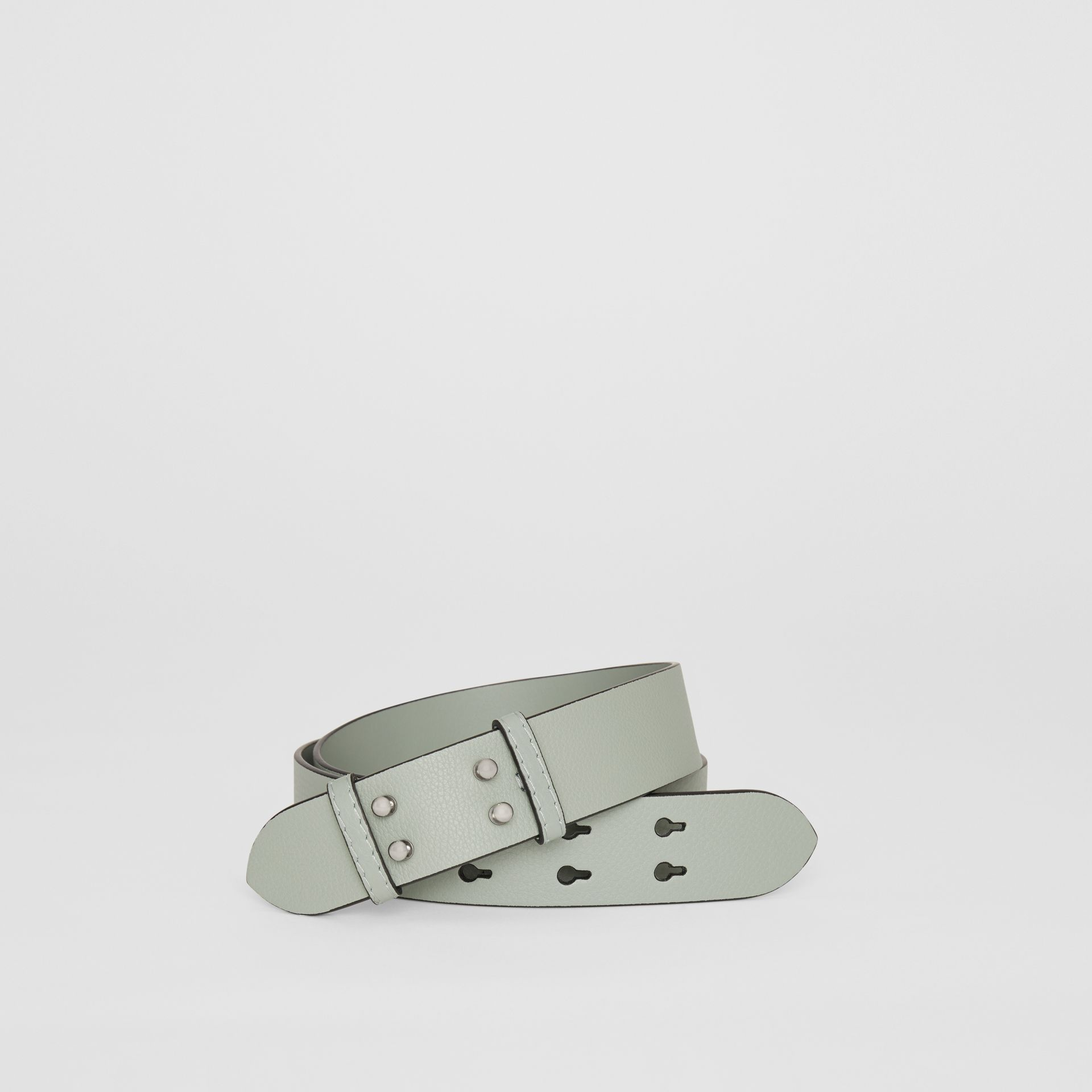 The Medium Belt Bag Grainy Leather Belt in Grey Blue - Women | Burberry United Kingdom - gallery image 0