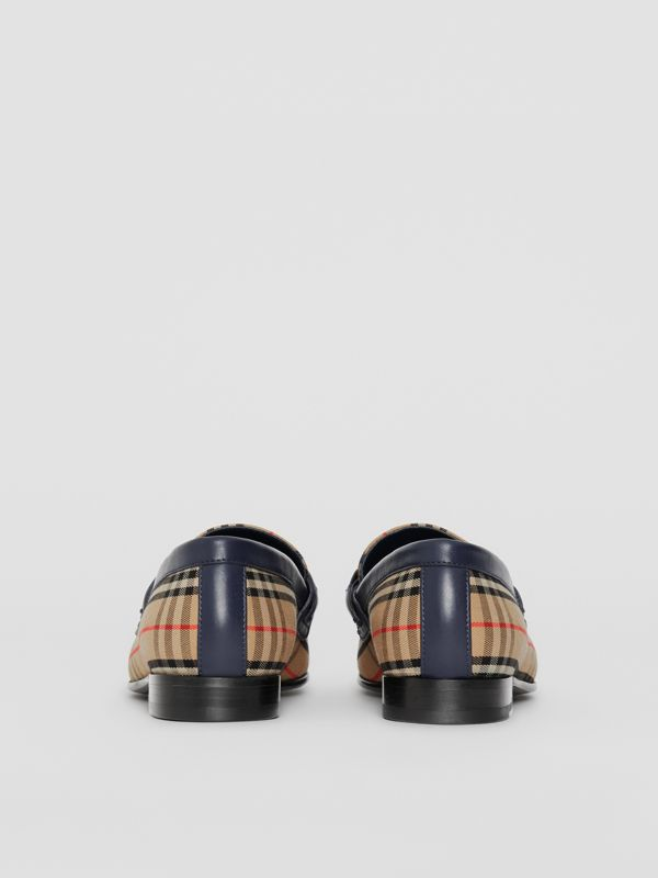 The 1983 Check Link Loafer in Ink Blue - Women | Burberry - cell image 3