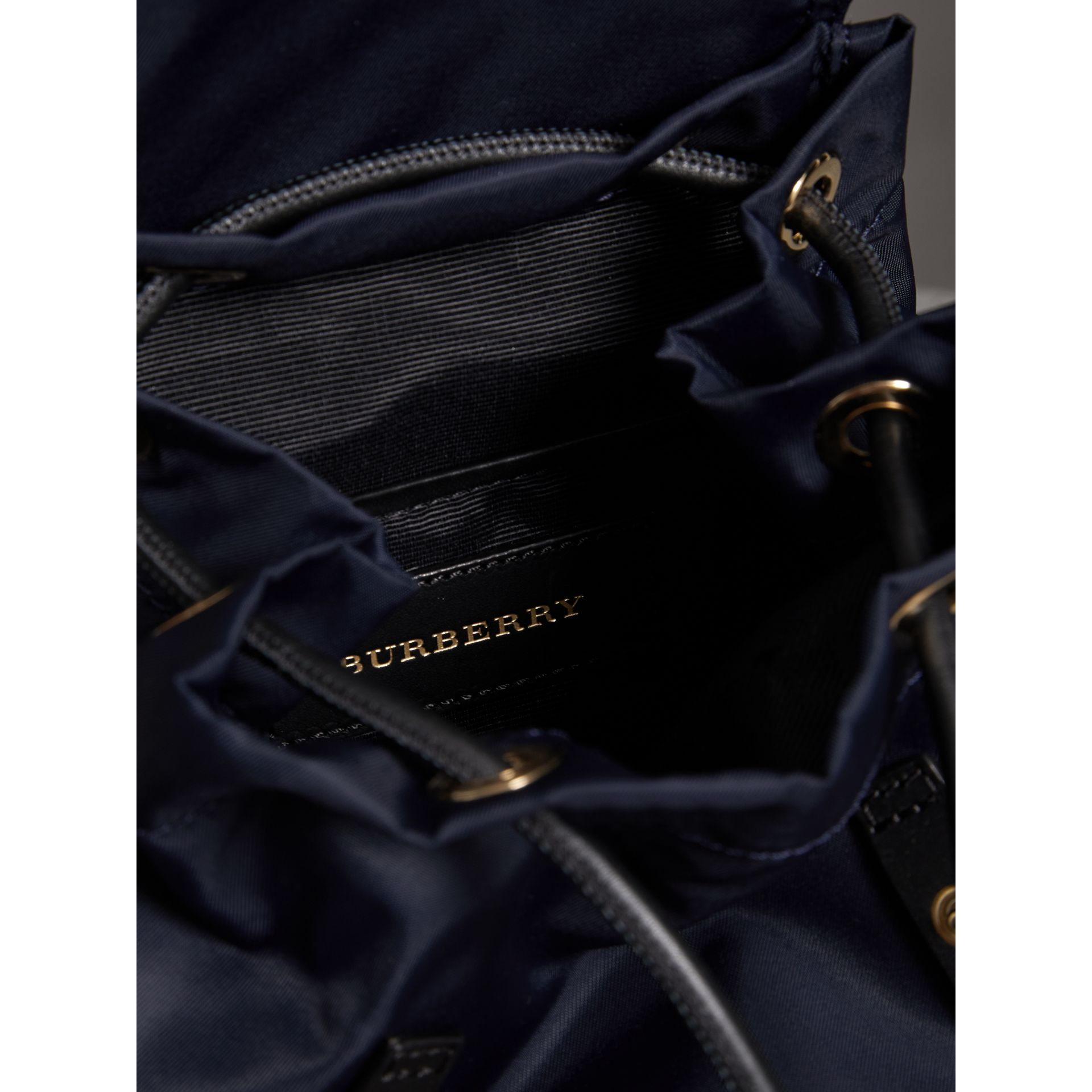The Crossbody Rucksack in Nylon and Leather in Ink Blue - Women | Burberry - gallery image 5