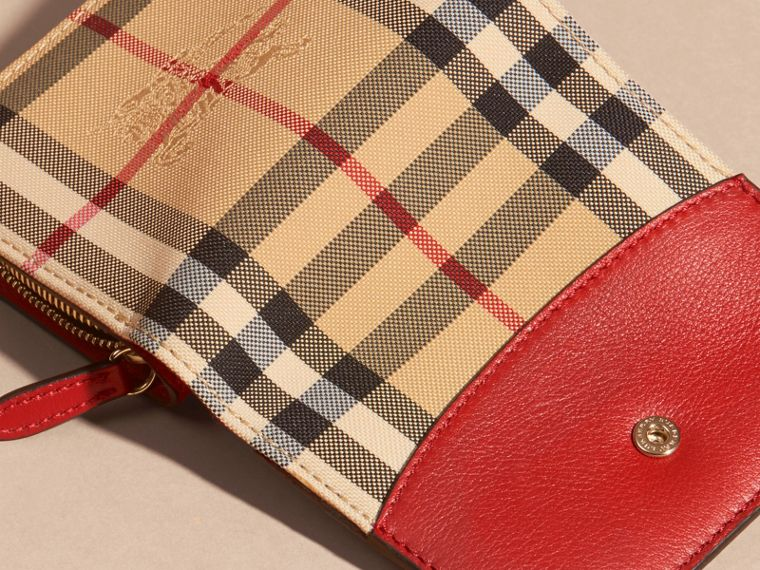 Horseferry Check and Leather Wallet Parade Red - cell image 1