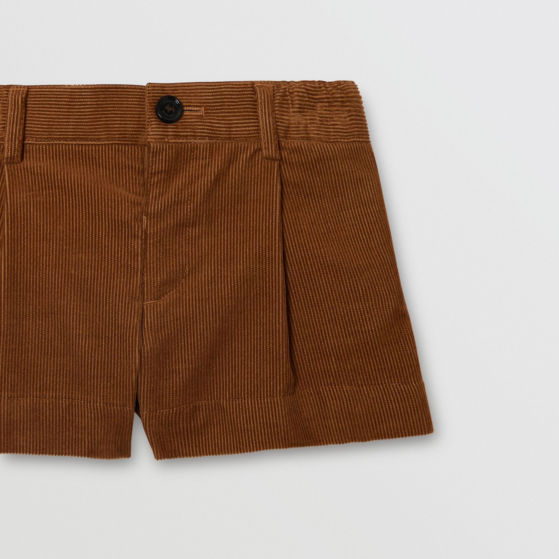 Corduroy Tailored Shorts in Camel | Burberry - gallery image 4