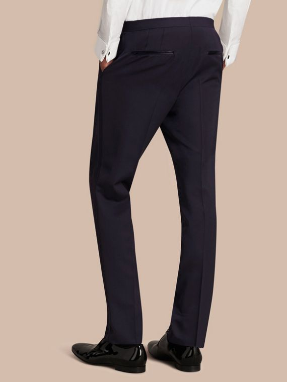 Navy Virgin Wool Tuxedo Trousers Navy - cell image 2