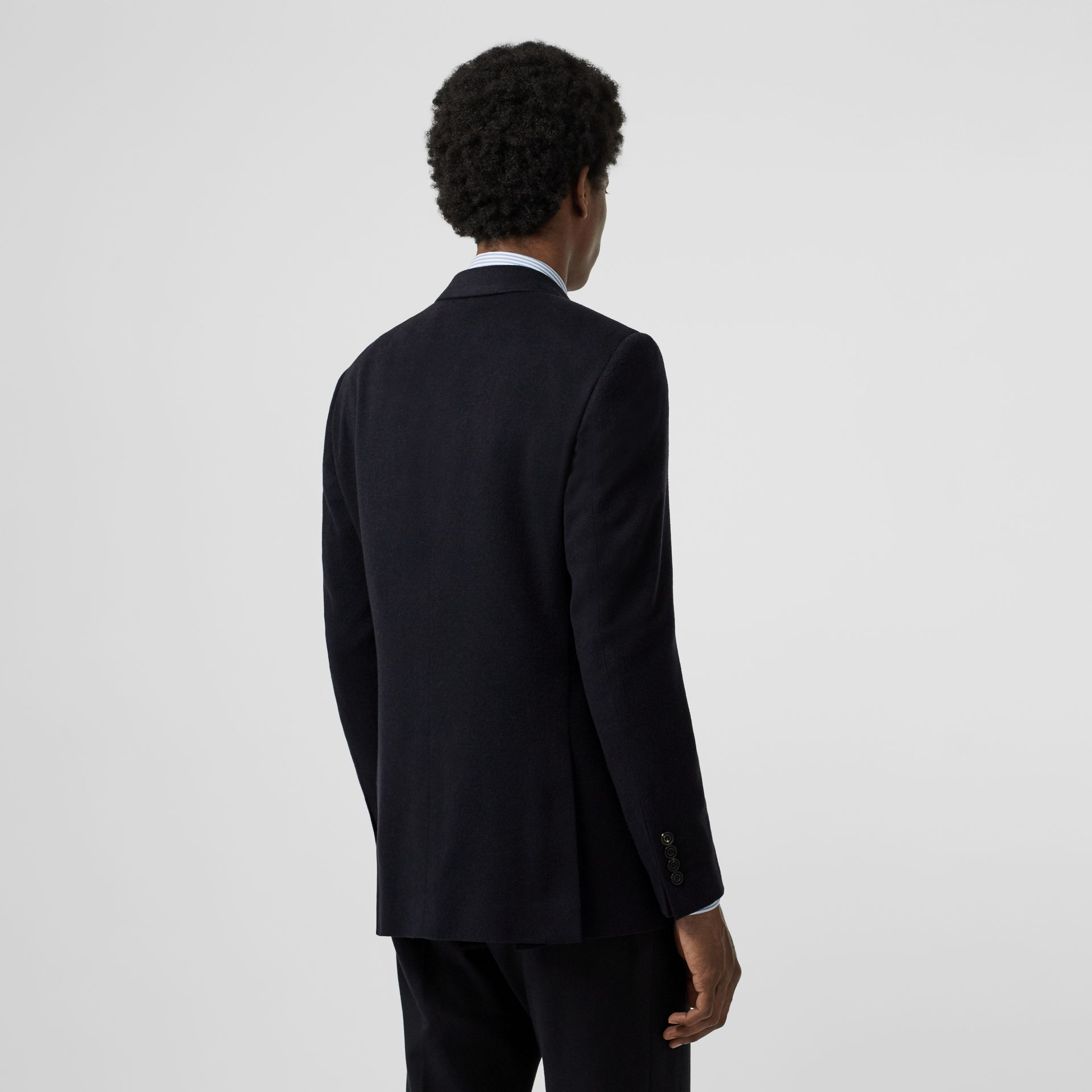 Classic Fit Cashmere Tailored Jacket in Navy Melange - Men | Burberry - gallery image 2