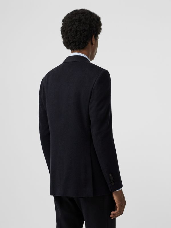 Classic Fit Cashmere Tailored Jacket in Navy Melange - Men | Burberry - cell image 2