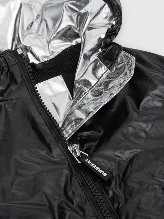 Logo Print Lightweight Hooded Jacket in Black - Children | Burberry United Kingdom - cell image 1