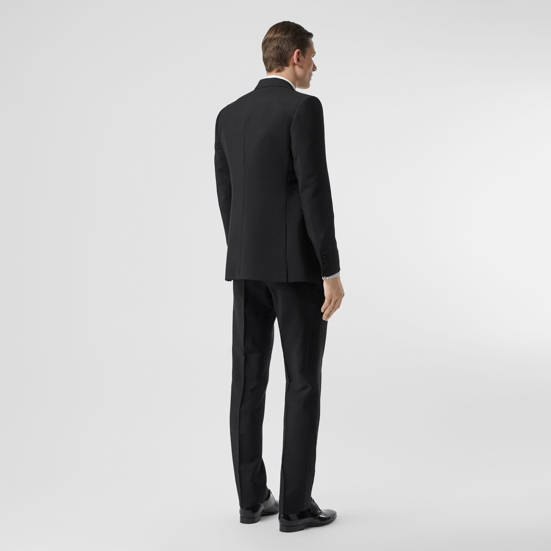 English Fit Mohair Wool Tuxedo in Black - Men | Burberry - gallery image 2