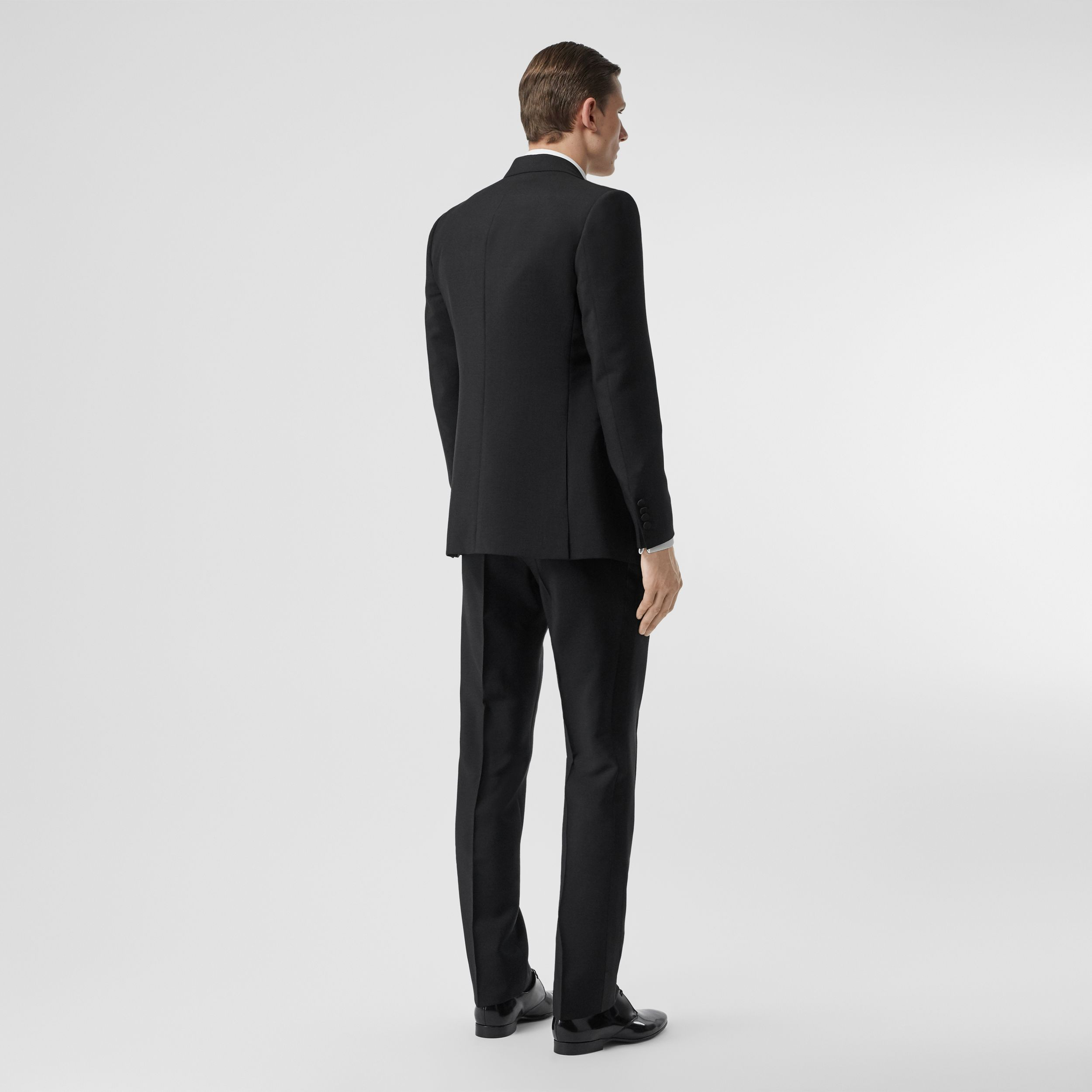 English Fit Mohair Wool Tuxedo in Black - Men | Burberry - 3
