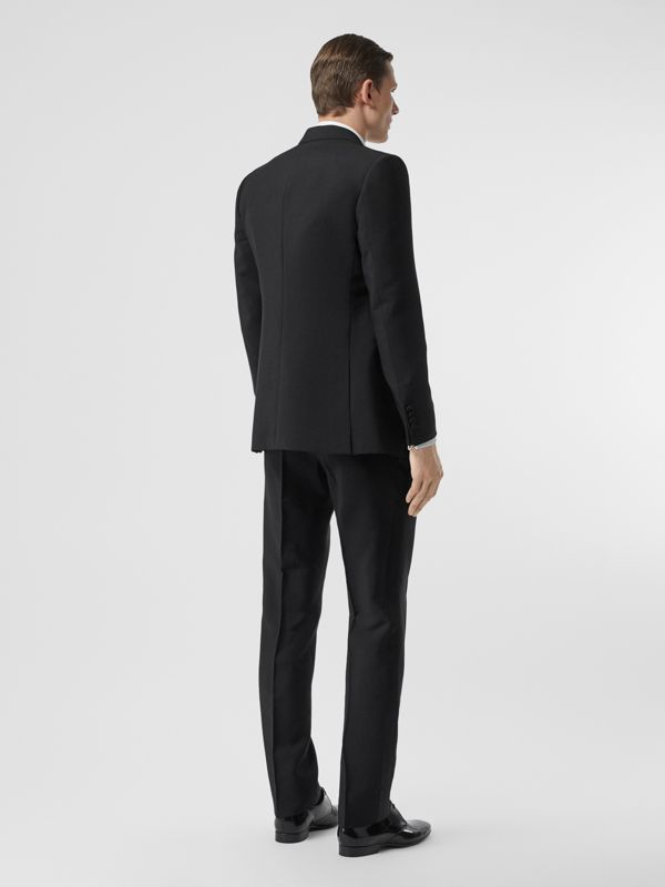 English Fit Mohair Wool Tuxedo in Black - Men | Burberry - cell image 2
