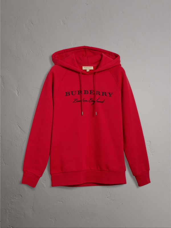 엠브로이더리 후드 스웨트셔츠 (퍼레이드 레드) - 여성 | Burberry - cell image 3