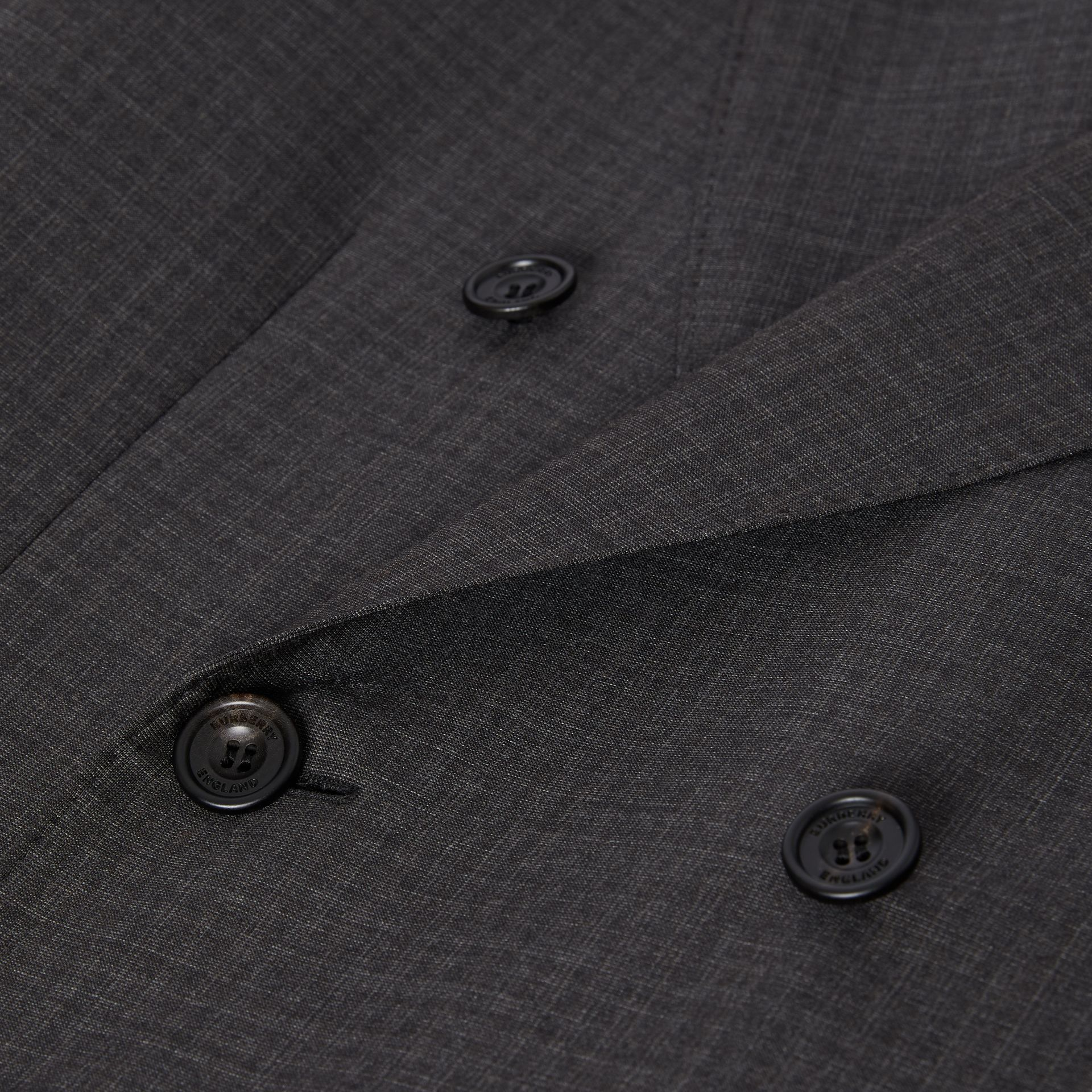 Classic Fit Windowpane Check Wool Silk Suit in Dark Grey - Men | Burberry - gallery image 8