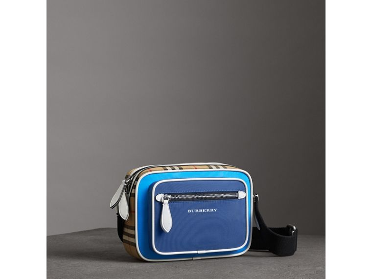 Vintage Check and Nylon Crossbody Bag in Deep Cerulean Blue   Burberry United States - cell image 4