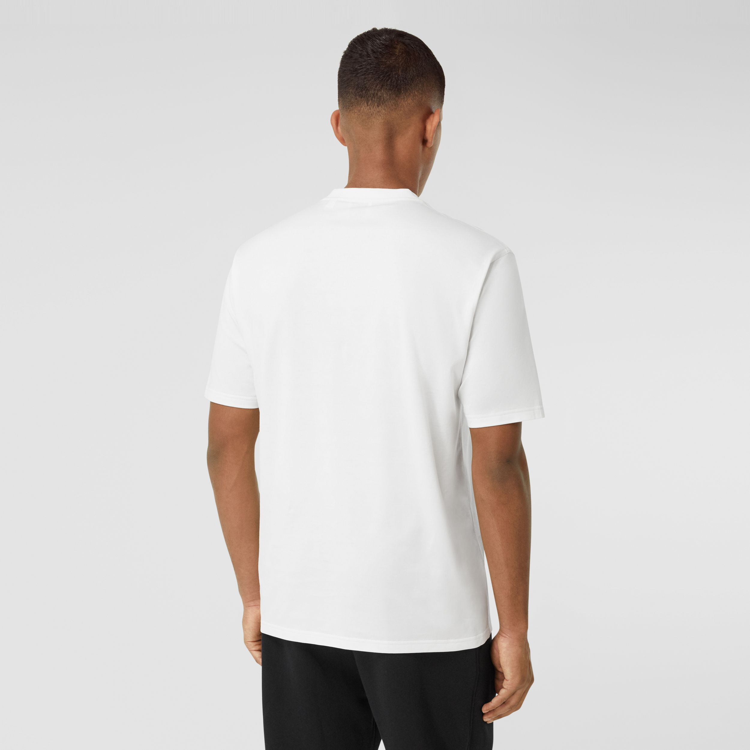 Logo Print Cotton T-shirt in White - Men | Burberry - 3