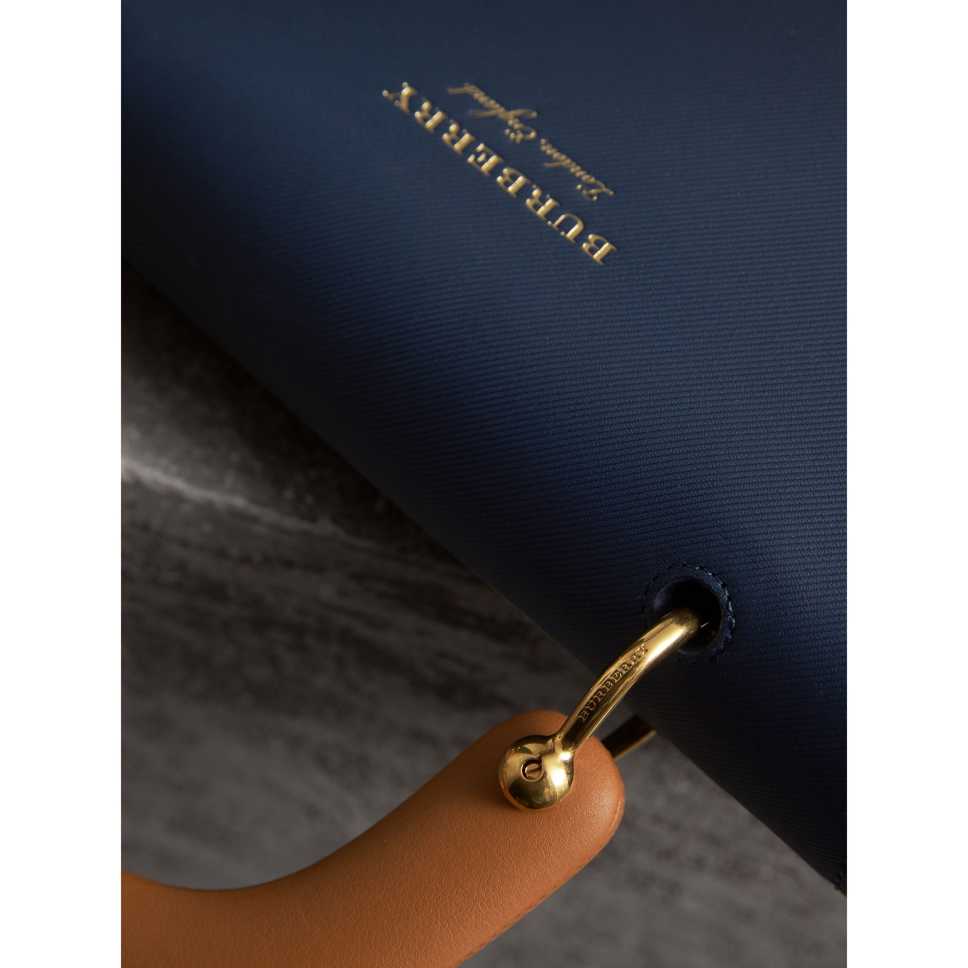 The Medium DK88 Top Handle Bag in Ink Blue - Women | Burberry - gallery image 2
