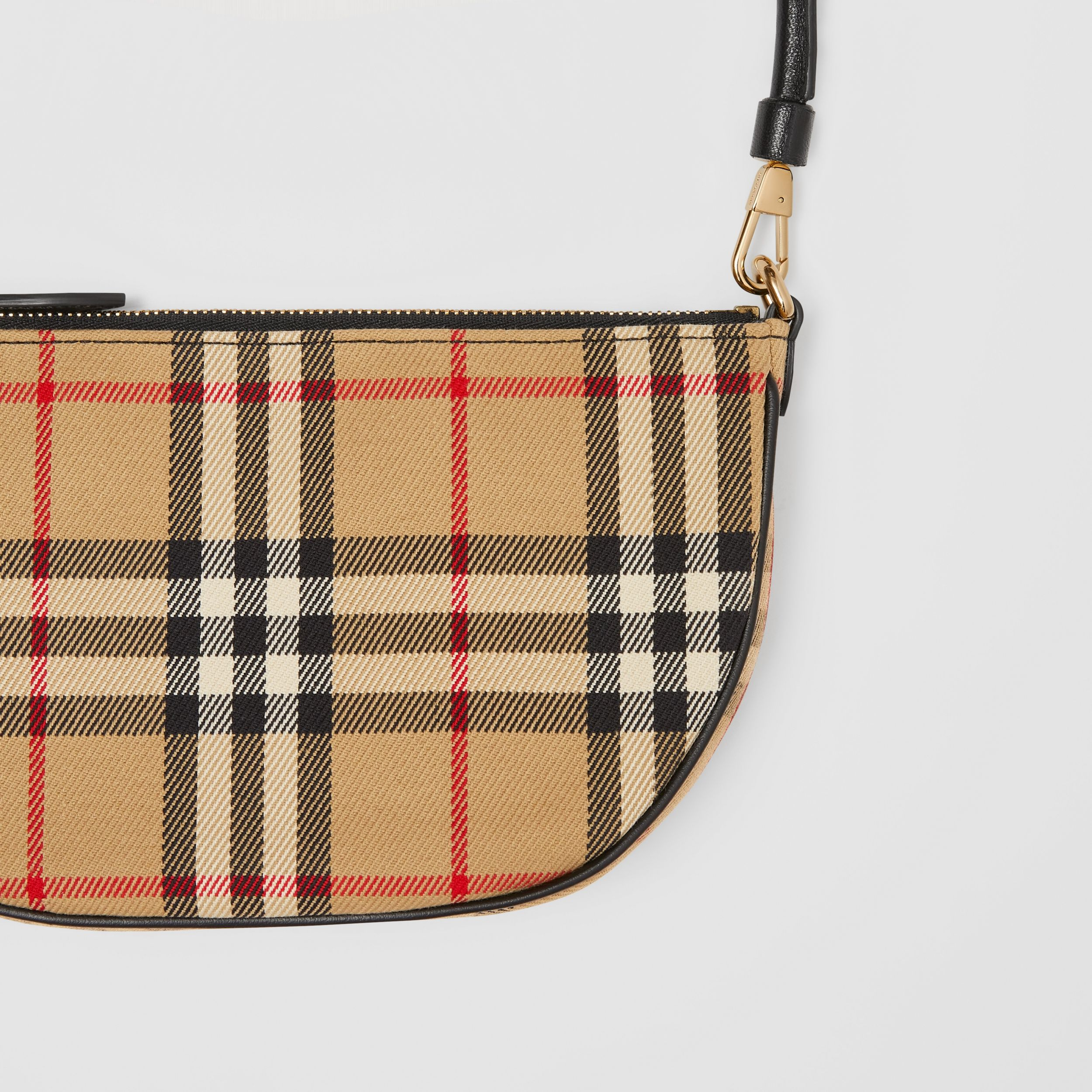 Vintage Check Cotton Olympia Pouch in Archive Beige - Women | Burberry Australia - 2